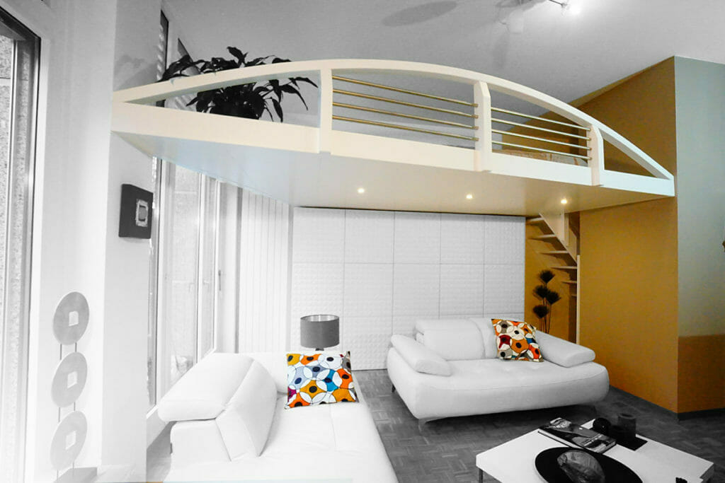 mezzanine suspendu fabulous le filet mezzanine un rve de gosse qui plat autant aux petits. Black Bedroom Furniture Sets. Home Design Ideas